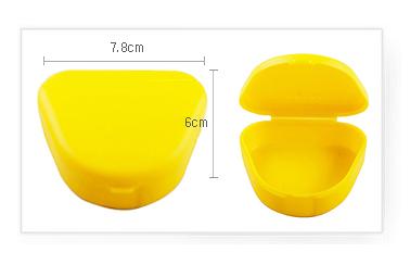 Футляр для ретейнера желтый