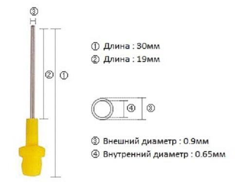 Смесительный наконечник Core oral tip-Y S119 - размеры